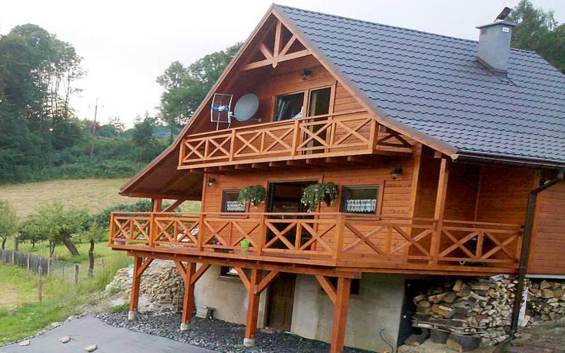 Domy drewniane z drewna beskidy Żywiec TANIE